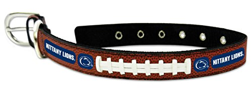 (NCAA Penn State Nittany Lions Classic Leather Football Collar, Large )