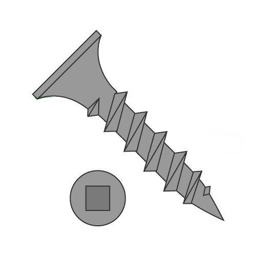 #8 x 2 Coarse Drywall Screws/Square/Bugle Head/Steel/Black Phos (Carton: 2,000 pcs) by Newport Fasteners (Image #1)