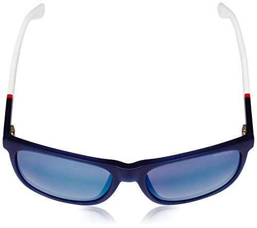 de6e86d591 Tommy Hilfiger 1281 S FMC Blue Red White TH1281 S Square Sunglasses Lens Ca