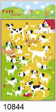 Kawaii Dog Felt Sticker (2 Sheets) - - Felt Dog Stickers