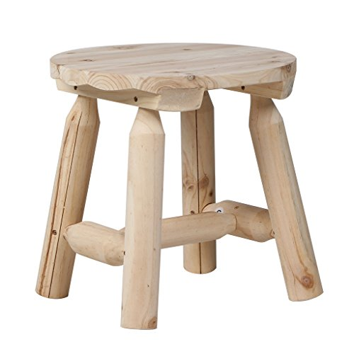 VH FURNITURE Outdoor Furniture Round 15.75-Inch Side Table, Nature Wood (Side Adirondack Table Round)