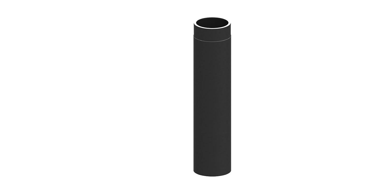 Ofenrohr Ofenrohr Ofenrohr Längenelement doppelwandig, mit 1000mm Länge, Ø 150mm Durchmesser; schwarz lackiert 5f229c