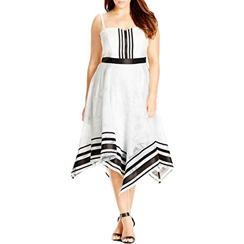 City-Chic-Womens-Plus-Sweet-Sacha-Asymmetric-Shadow-Print-Party-Dress