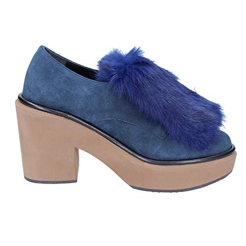 Paloma Gamuza Mujer Azul Elegantes Barcelo Zapatos rTxSr6