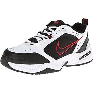 Nike Air Monarch IV Training Shoe (4E) - White/Black/Varsity Red, Size 9 US