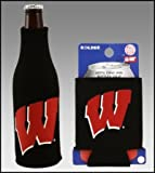 Cheap SET OF 2 WISCONSIN BADGERS CAN & BOTTLE KOOZIE COOLER