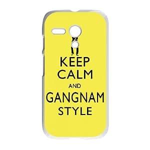 Keep Calm and Gangnam Style PSY Motorola G Cell Phone Case White DIY Present pjz003_6565256