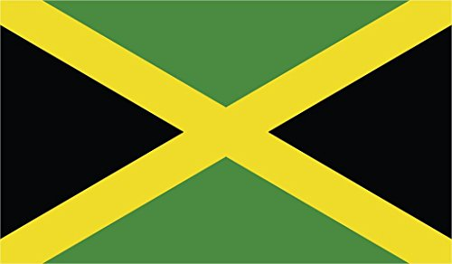 JMM Industries Jamaica Flag Vinyl Decal Sticker Jamaican Car Window Bumper 2-Pack 5-Inches by 3-Inches Premium Quality UV-Resistant Laminate PDS454