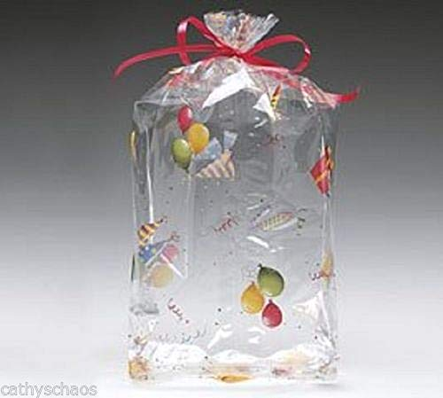 - tkcathyschaos 25 Lets Party Cello Bags 4 x 9 Cellophane Birthday New Years Party Candy Treats