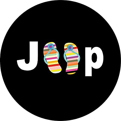 Jeep Flip Flops Spare Tire Cover for Jeep RV Camper VW Trailer etc(Select popular sizes from drop down menu or contact us-ALL SIZES AVAILABLE)