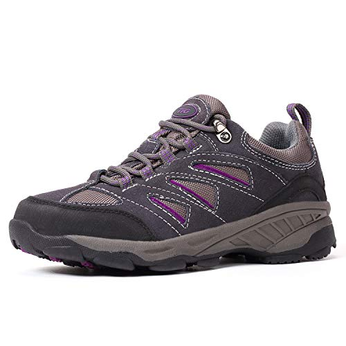 TFO Hiking & Trekking Shoes Womens California Breathable Low Trail Running Shoes for Hiker Dark Grey