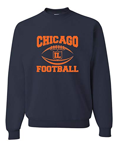 Go All Out X-Large Navy Adult Chicago Football Sweatshirt Crewneck