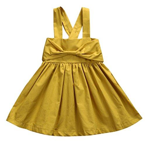 Vibola Kid Baby Girls Summer Bowknot Sleeveless Princess Party Tutu