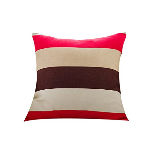 LQQGXL Cushion, Back cushion Nordic-style mixed striped sofa Pillow Pillow Sofa Pillow Mediterranean back cushions Home fabric cushions (Color : Color-b, Size : 6060cm) by LQQGXL (Image #3)