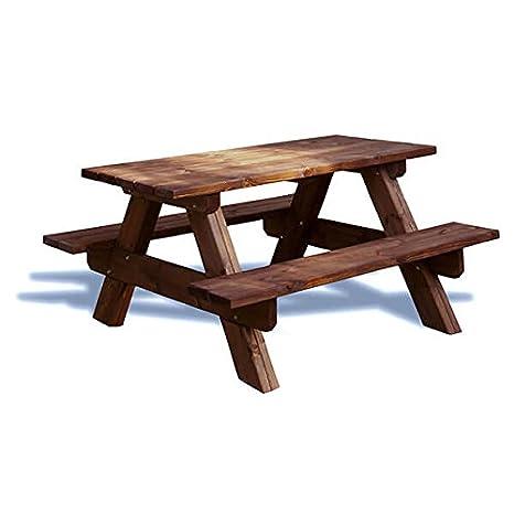 estrucmader - Table de Pique-Nique en Bois pour Jardin 160 ...
