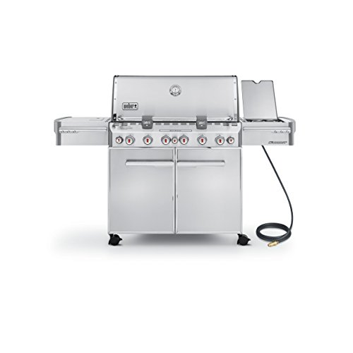 Weber Summit 7470001 S-670 Stainless-Steel 769-Square-Inch 60,800-BTU Natural-Gas Grill (Certified Refurbished)