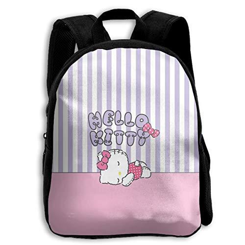 CHLING Kids Backpack Hello Kitty Sleeping Print Childrens School Bag Teenager Bookbag for Boys Girls]()