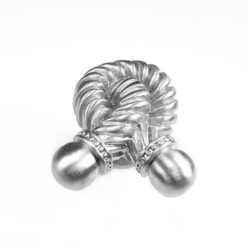 Small Satin Nickel Vicenza Designs K1021 Equestre Rope Knob