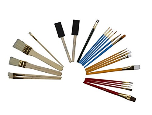 25 Pc. Set Multi-use Paintbrushes A Range Of Sizes And Styles, For All Your Painting Needs Watercolor And Acrylic