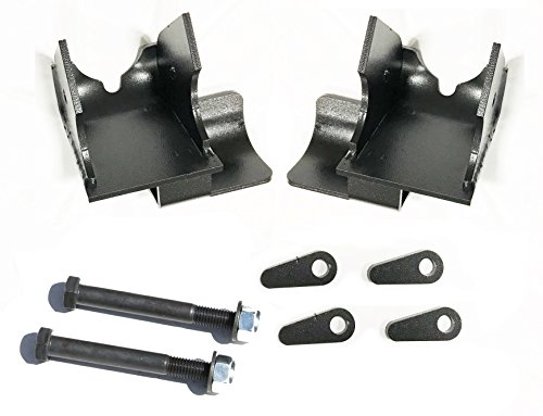 ROCK HARD 4X4 BOLT-ON REAR LOWER CONTROL ARM SKID PLATES WITH SHOCK MOUNT SKID FOR JEEP WRANGLER TJ/LJ 1997 - 2006 D44 (Plate Skid A-arm Rear)