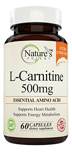 Nature's Potent, L- Carnitine Tartrate 500 Mg, 60 Capsules (1)