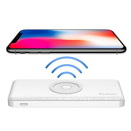 Qi Wireless Charging Portable Charger, Yoobao 5000mAh Power Bank External  Battery Pack Lightning and Micro Input for iPhone X/8/8 Plus, Samsung  Galaxy