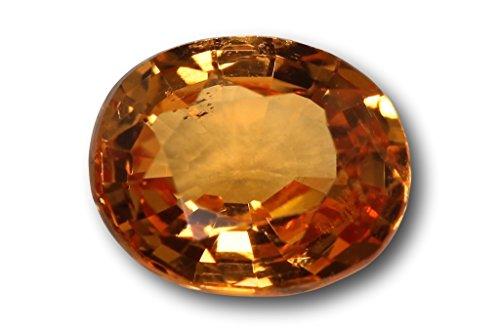Grenat Spessartite Mandarin naturel de Namibie de 0,85 carat 6,0 x 5,0 x 2,9 mm