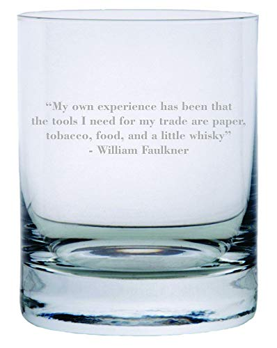 William Faulkner Quote Etched Crystal Rocks Whisky for sale  Delivered anywhere in Canada