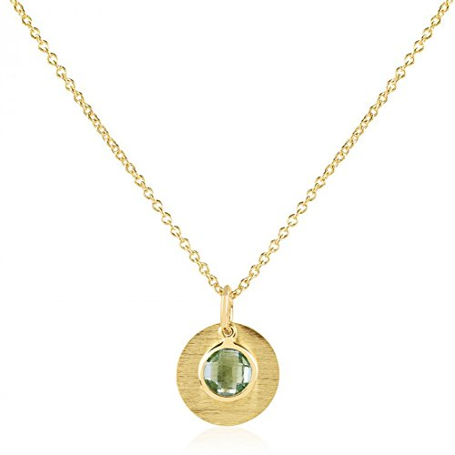 Nathis August Birthstone Necklace Green Amethyst