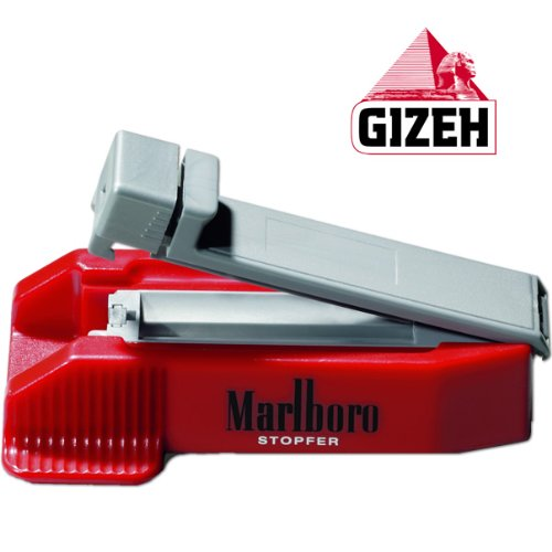 Gizeh 16068 Zigarettenstopfer Kunststoff 14 x 8 x 5 cm, rot