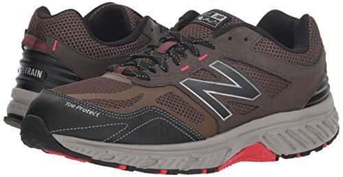 New Balance Men's 510v4 Cushioning Trail Running Shoe Chocolate/Black/Team red 7 D US by New Balance (Image #6)