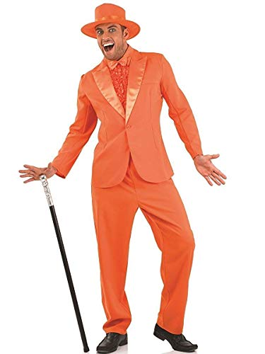 (fun shack Mens 90s Comedy Movie Costumes Bright Orange Suit -)