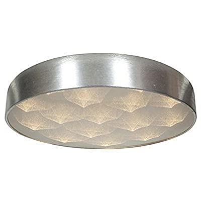 "Access Lighting 70082LEDD-BSL/ACR Meteor - 26"" 48W 16 LED Flush Mount, Brushed Steel Finish with Acrylic Glass"