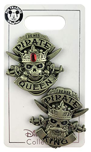 - WDW Trading Pin - Pirates of the Caribbean - I Be His Pirate Queen - I Be Her Pirate King