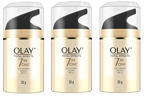 0lay Total Effects 7 in One Day Cream, Gentle, SPF 15, 50g (1.7 oz) (3 Pack)