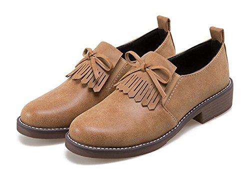 Vestido De Mujer Con Cordones Vintage Abedul Asogado En El Vestido Vestido De Zapatos Oxford Oxford Con Zapatos Bajos Gruesos Con Los Arcos