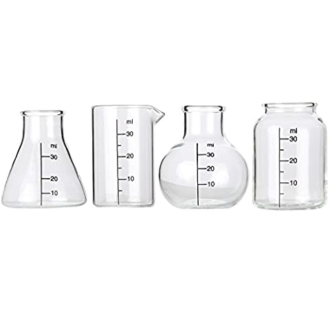 Lily's Home Mini Science Beaker and Flask Shot Glasses, Great Gift for Chemistry and Bio Grads, Nurses and Doctors…