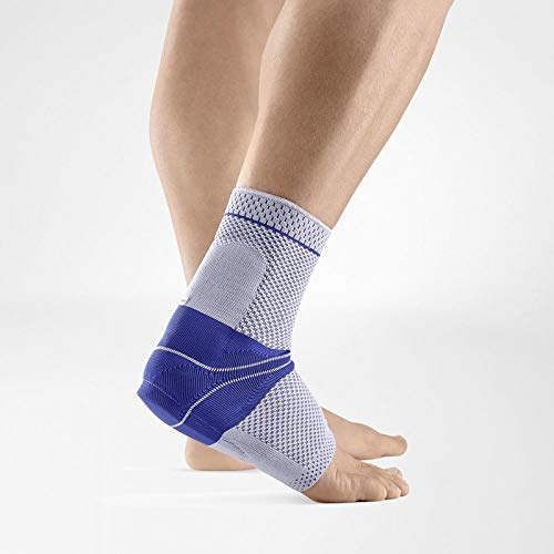Bauerfeind – AchilloTrain – Achilles Tendon Support – Breathable Knit Ankle Brace for Targeted Relief of Achilles Tendon Without Limiting Mobility – Left Foot – Size 4 – Color Titanium