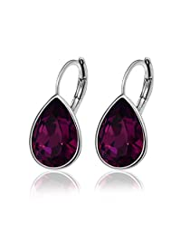 Xuping Sparkle Valentine's Day Cyber Monday Gifts Hot Beauty Elegant Water Drop Crystals from Swarovski Luxury Decorate Hoop Earrings Mothers Day Christmas Women Girl Jewelry M12