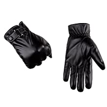 Unisex Texting Touchscreen Winter/Spring Warm PU Leather Daily Dress Driving Gloves