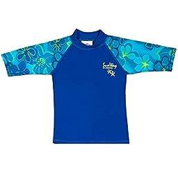 SunWay Rash Guard boys Shirt swimsuit UPF 50 UV Sun Protective (4-5 years)