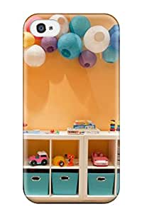 Tpu Case For Iphone 4/4s With Wall Cubby Storage In Playroom With Paper Lanterns
