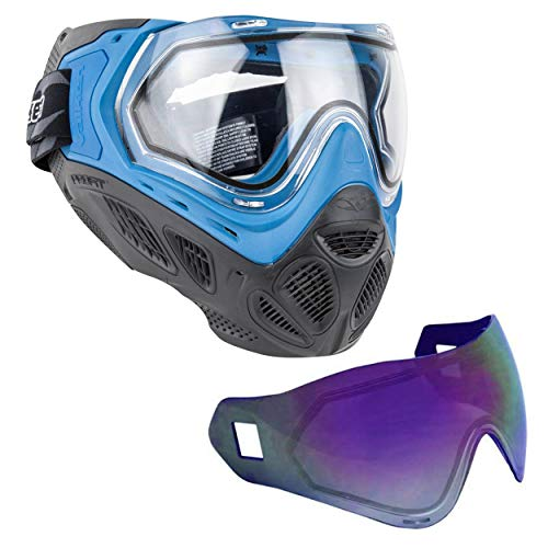 - Sly Profit SC Thermal Paintball Mask Goggle with 2 Thermal Lenses (Blue Mask Purple Lens)