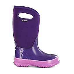 Bogs Classic Solid Waterproof Insulated Rain Boot (Toddler/Little Kid/Big Kid), Grape,8 M US Toddler