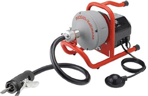 RIDGID 71722 K-40AF Sink Machine with 5/16 Inch Inner Core Cable and AUTOFEED Control, Sink Drain Cleaning Machine and Bulb Drain Auger