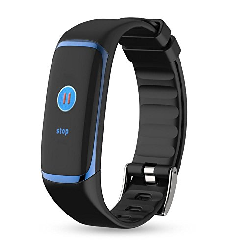 Price comparison product image Boofab Health Tracker,  P9 Fitness Tracker Color Screen Sport Smart Watch, Activity Tracker with Heart Rate Blood Pressure Calories Pedometer Sleep Monitor Call / SMS Remind for Smartphones Gift (bule)