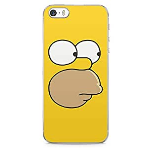 Loud Universe Homer Simpson Face Iphone 5 / 5s Case The Simpsons Face Iphone 5 / 5s Cover with Transparent Edges