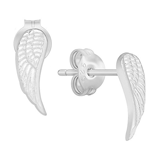 (Nickel Free) 925 Sterling Silver Angel Wing Stud Earrings 729