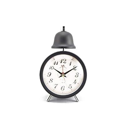 ZMYLOVE Retro Despertador analógico silenciado sin tictac ...