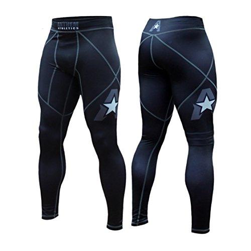 Anthem Athletics - 10+ Styles - HELO-X Grappling Spats Compression Pants Tights - BJJ, MMA, Muay Thai - Black - Large]()